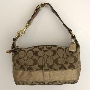 Coach | signature mini hobo jacquard purse bag